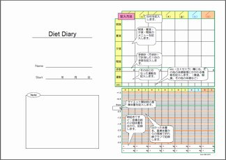 ダイエット日記・表紙と解説