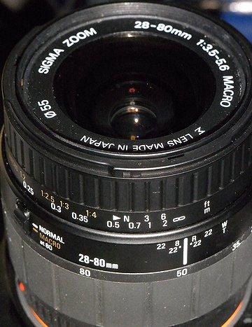 SIGMA 28-80mm F3.5-5.6 MACRO