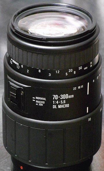 シグマ70-300 DL MACRO