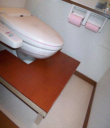 トイレの足場